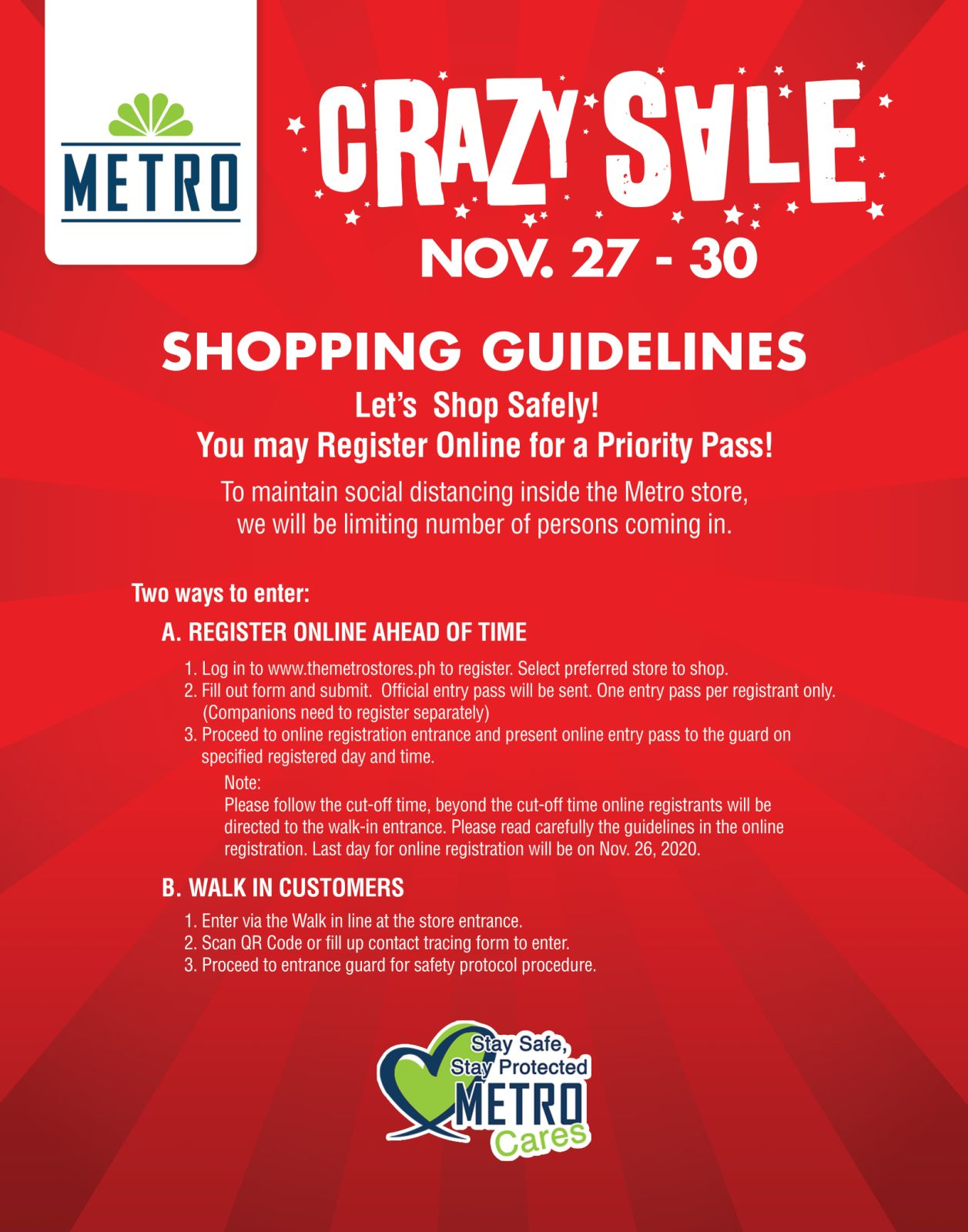 Crazy Sale 2020 - Biggest Sale of the Year Metro Depa